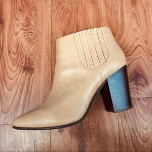 TAN LEATHER CHELSEA BOOTIES